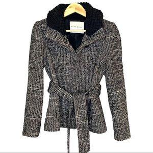 Zara Basic shearling collar short coat